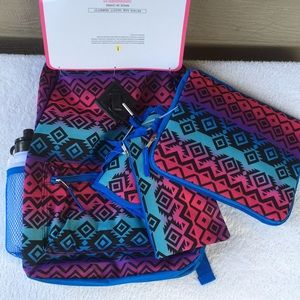 Backpack 6 piece set Southwestern theme NWT!